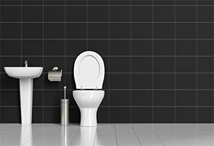 Amazon Com Csfoto 5x3ft Background For Stylish Clean Bathroom