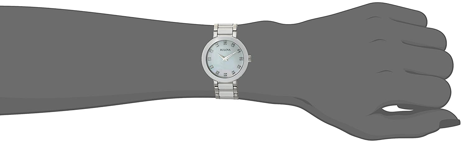 00ccf5874 Amazon.com: Bulova Women's Quartz Stainless Steel Dress Watch, Color:Silver- Toned (Model: 98P158): Watches