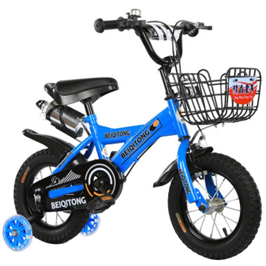 子供の自転車2-4-6-8歳12/14/16/18インチの赤ちゃん自転車女の子サイクリングボーイベビーカー子供マウンテンバイクでトレーニングホイール子供自転車 18in Blue A B07PBJFRFR