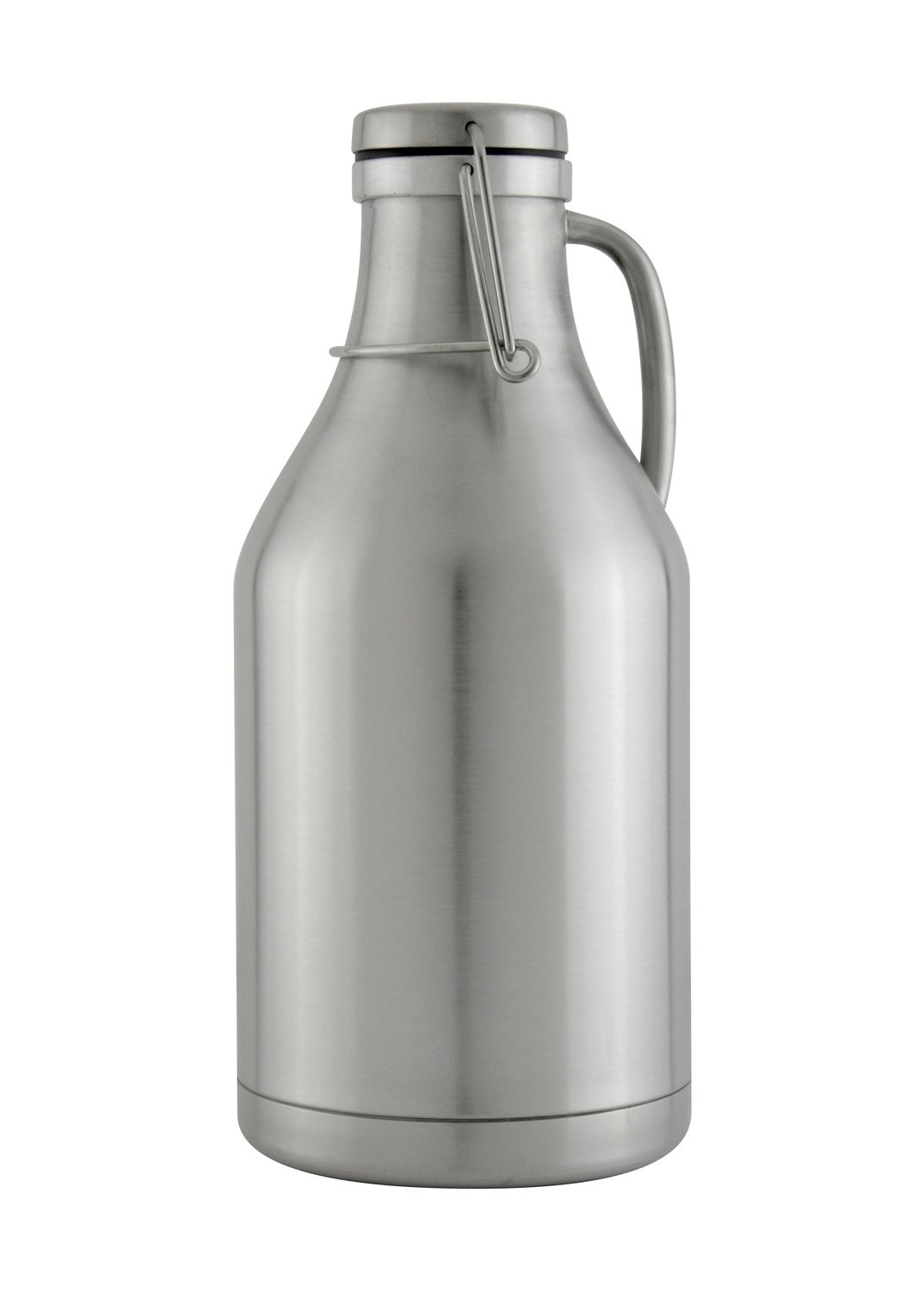 The Grizzly - 64 oz Double Wall Stainless Steel Flip Top Beer Growler - Stainless Steel