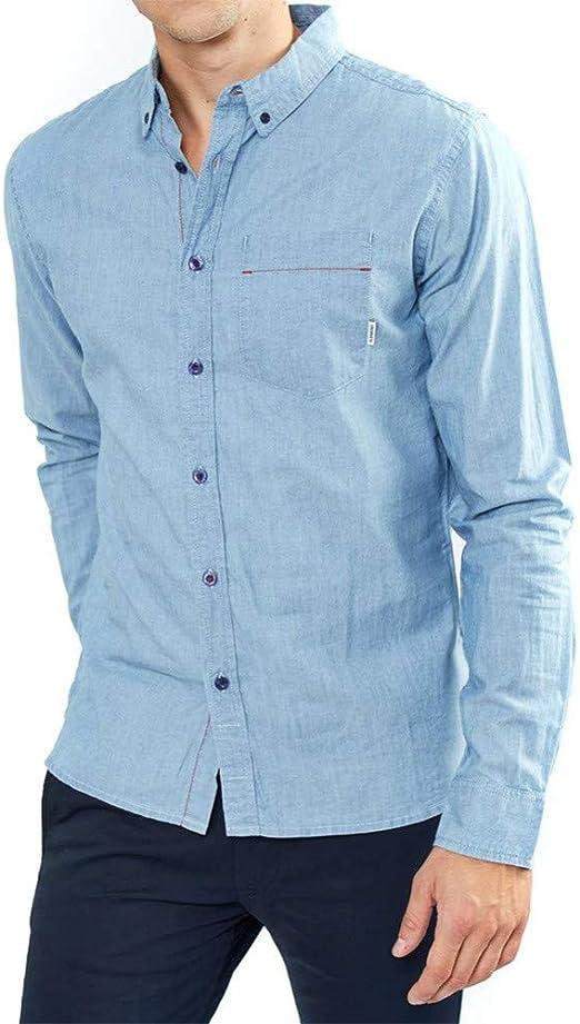 Element - Camisa Casual - Manga Corta - para Hombre Azul Azul ...