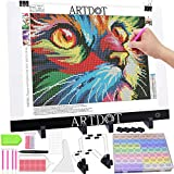 ARTDOT A3 Light Pad for Diamond Painting, USB Powered Light Board Kit, Adjustable Brightness with Detachable Stand and Clips
