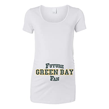 Amazon.com  Future Green Bay Fan Women s Maternity T-Shirt  Clothing 113a3c54f