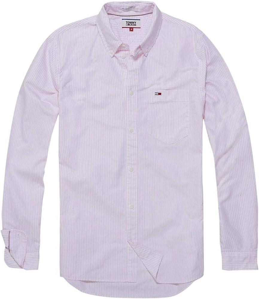 Tommy Jeans Camisa Rayas Rosa Hombre S Rosa: Amazon.es: Ropa y accesorios