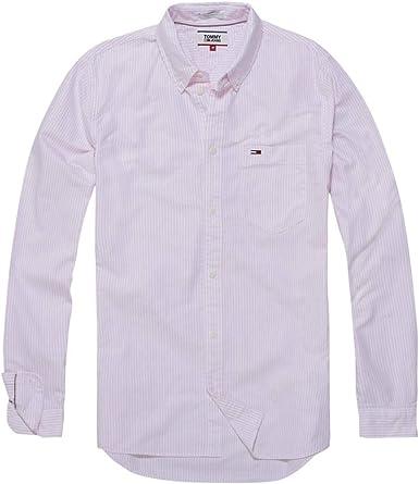 Tommy Jeans Camisa Rayas Rosa Hombre M Rosa: Amazon.es: Ropa