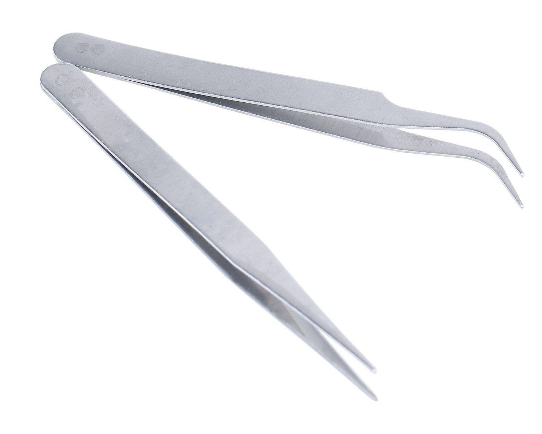 Hongnuo 2/Nail Art Pince /à /épiler courbe droite pointu ongles