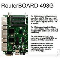 Mikrotik RouterBOARD 493G, RB493G 256MB 9 Gigabit ports 3 miniPCI USB OSL5 PoE