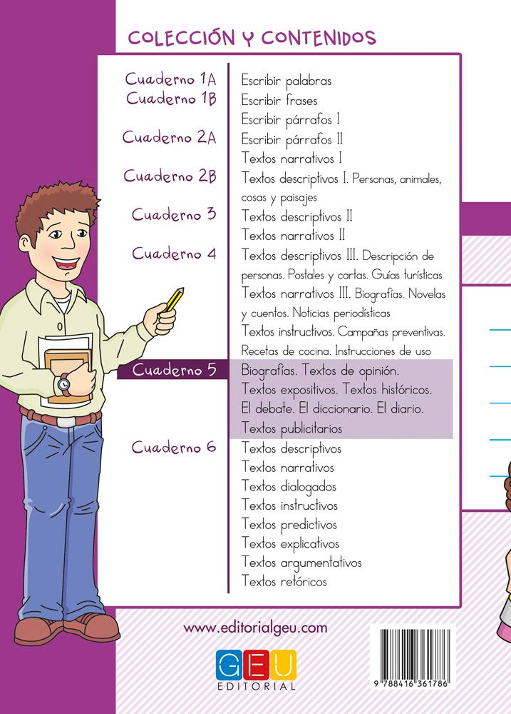 Escribir es divertido si sabes como. Cuaderno 5 / Editorial GEU ...