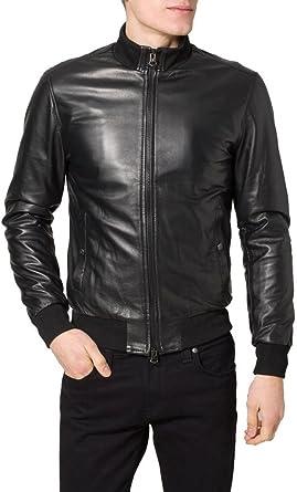 Custom Made Leather Jacket Noora Mens 100/% Pure Leather Jacket Slim Fit