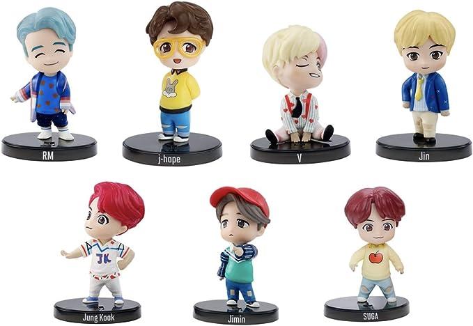 Amazon.com: BTS Mini Idol - Juego de muñecas (7 miembros): Toys & Games
