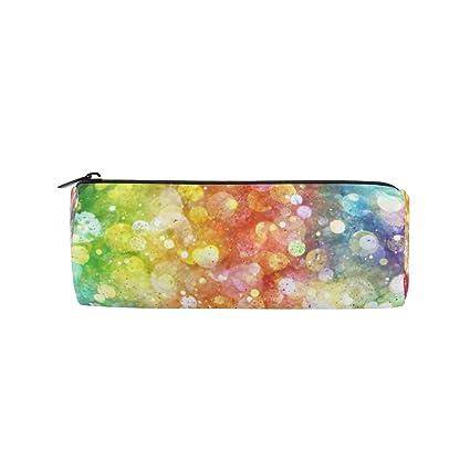 Amazon.com   Round Pencil Case Bag Rainbow Color Multi Function ... 146ef95ceb49