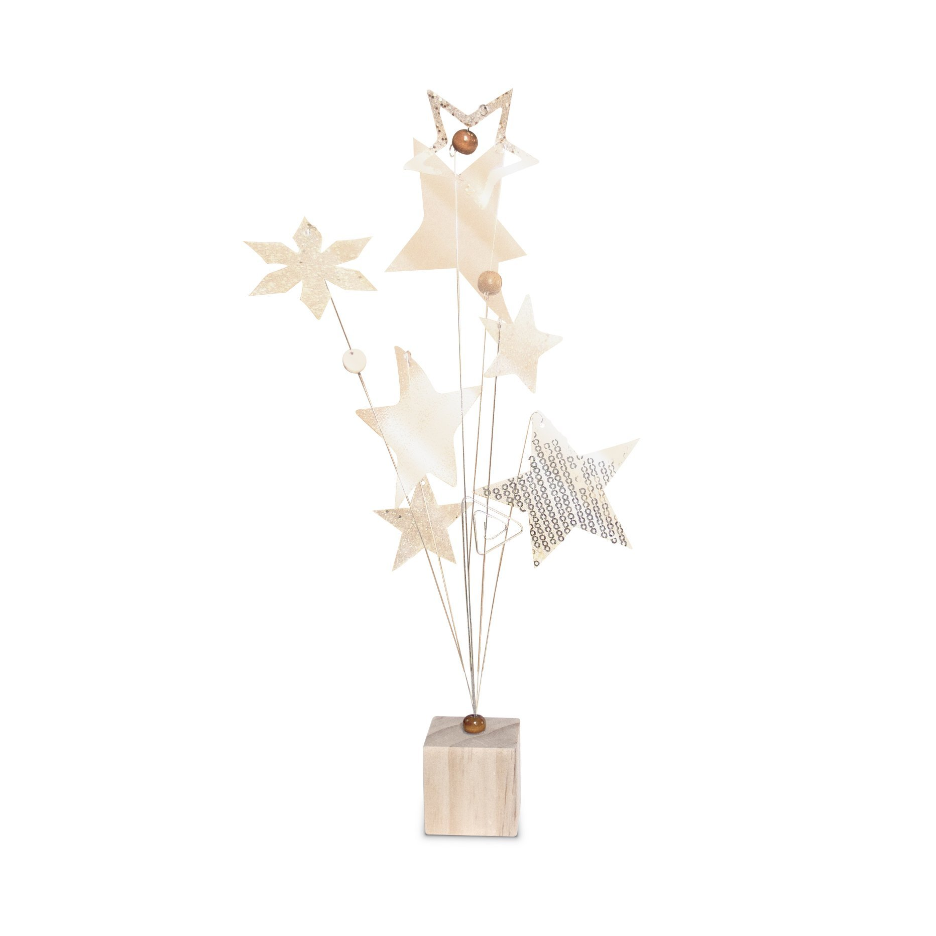 23 Bees   Table Centerpieces for Party   Photo Holder (Rustic Gold Handcrafted Star Design, 6 Pack)   Centerpiece Holders for Tables with Individual Card Number Slots   Dining Room & Kitchen Decor