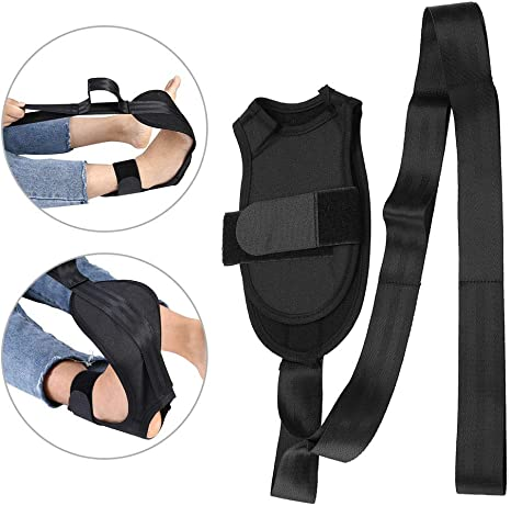 OhhGo Yoga Stretching Strap Multi-Loop Fitness Stretch Band for Physical Therapy Rehab Pilates Dance Gymnastics Black