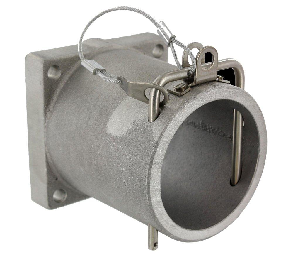 Leviton 49CSR 49 Series, Receptacle Housing, Rhino-Hide Single Pole Connector, Cast Aluminum, Silver
