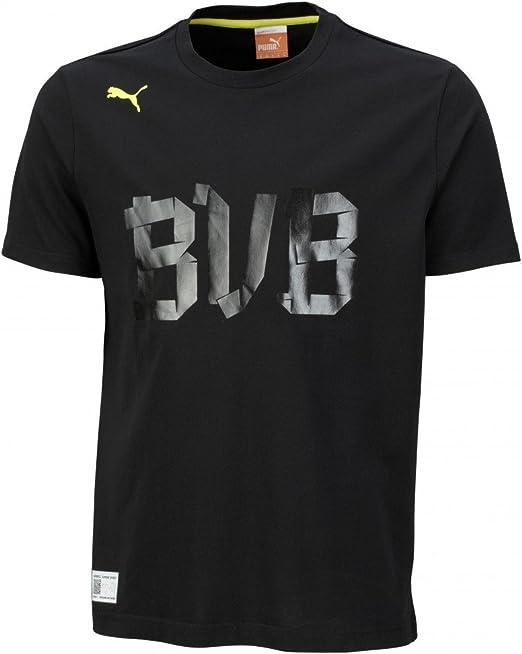 PUMA Herren T Shirt BVB Fan: : Bekleidung