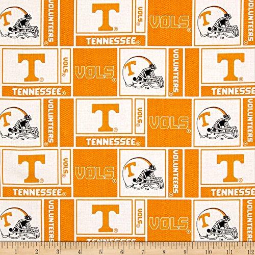 (Sykel Enterprises NCAA University of Tennessee Herringbone Box Orange Fabric by The Yard )