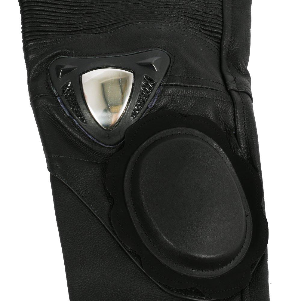 Homme W32 L30 Cuir Jean//Pantalon de Moto Sliders en m/étal