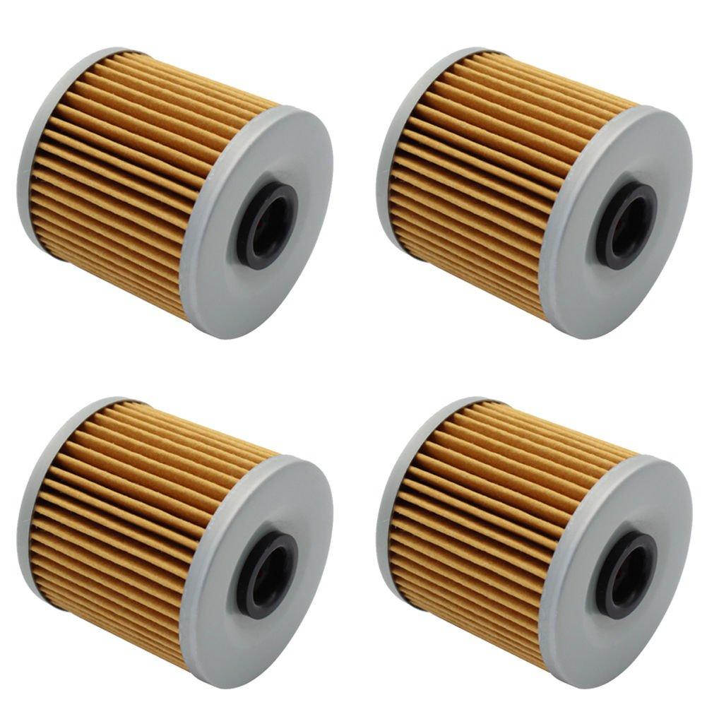 Cyleto Oil Filter For Kawasaki KEF300 LAKOTA 300 / KEF300 LAKOTA SPORT 1995-2003 ( Pack of 4 )