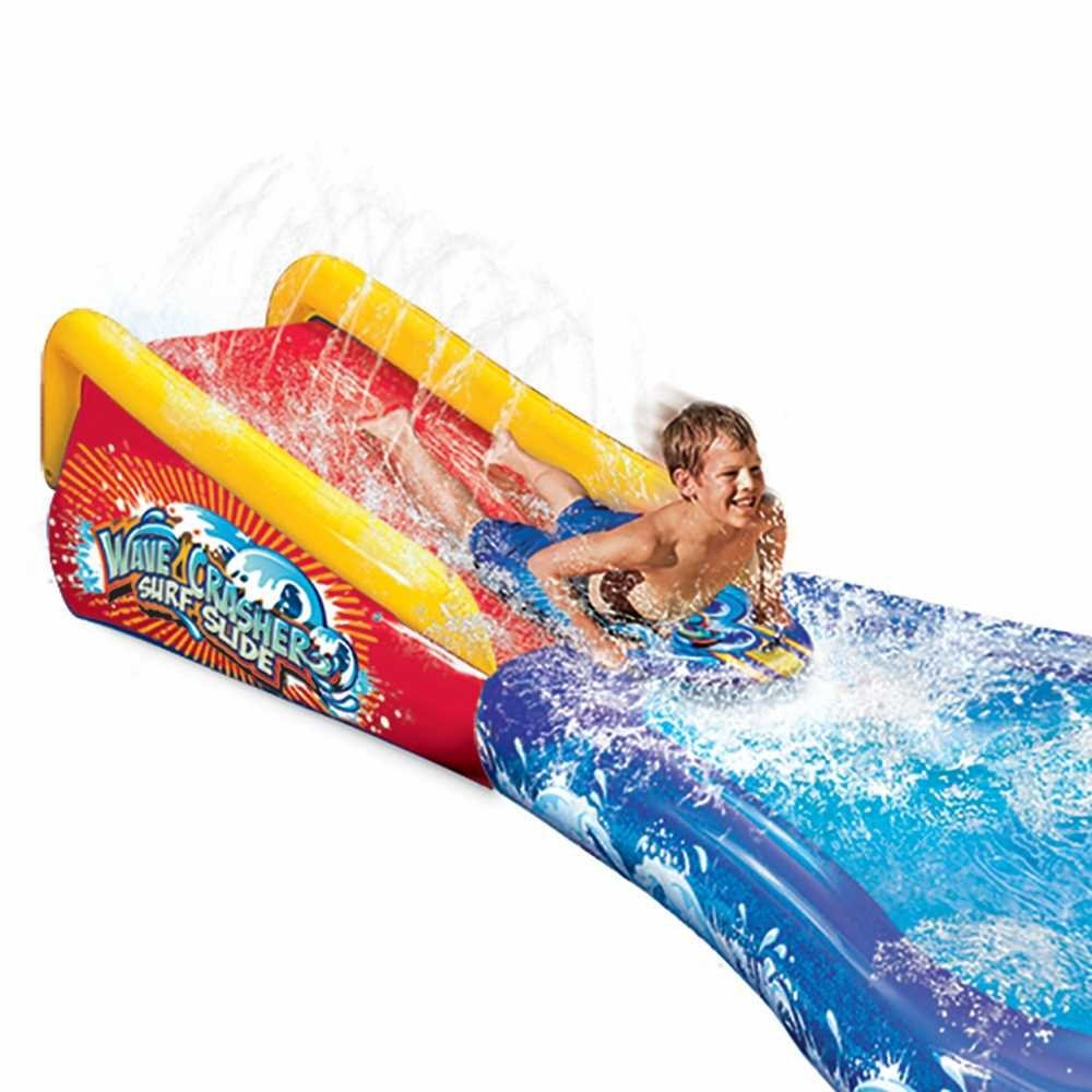 amazon com banzai inflatable wave crasher surf water slide and