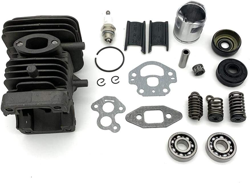 Especially 39mm Cylinder Piston Crank Bearing Seal Gasket Kit Chainsaw Plastic (Color : Black) Black