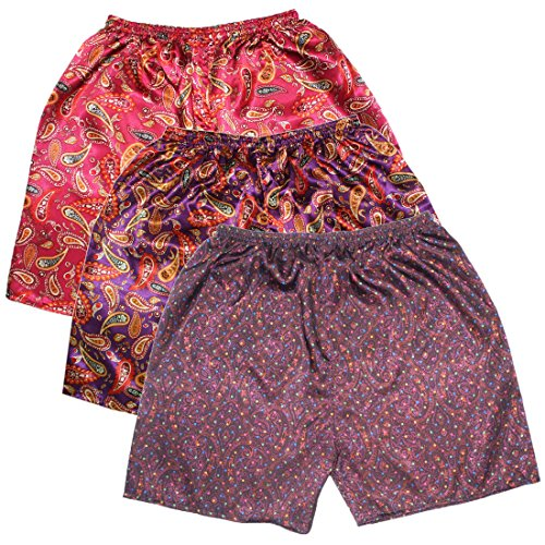 (Pack of 3) Mens Sleepwear - Silk Couture Boxer Shorts / ...