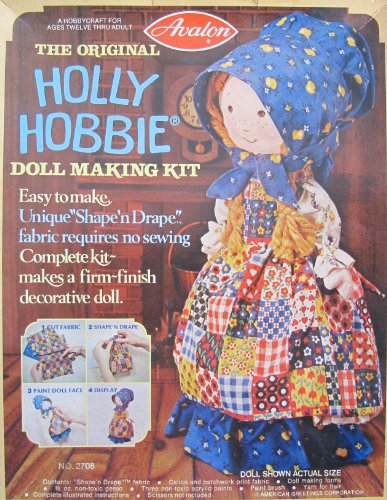 Avalon Original HOLLY HOBBIE DOLL MAKING Complete KIT Makes 9-1/2'' DECORATIVE DOLL Requires NO Sewing (1976) by The Original Holly Hobbie Doll Making Kit (Image #3)