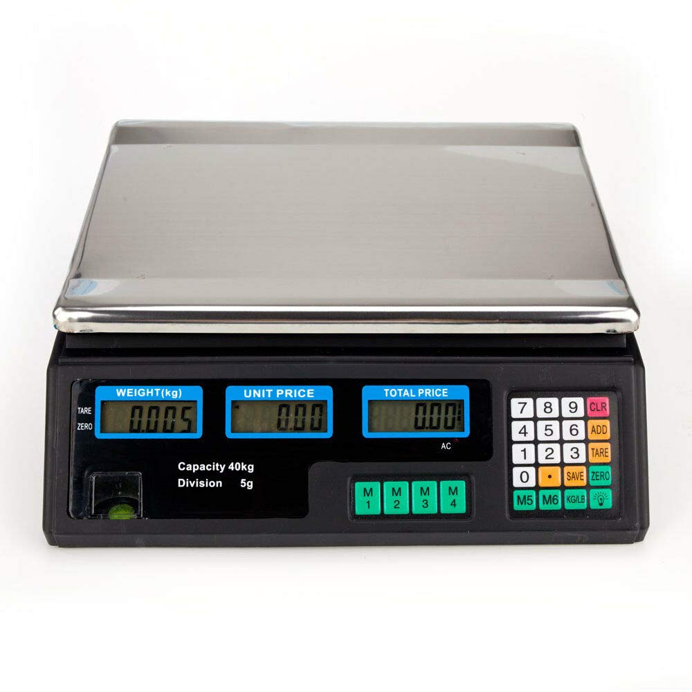 88LB/40KG Food Deli Scale | Food Meat Price Computing Digital Display Weight Scale ACS Electronic Counter Supermarket Price Scale Outlet Store