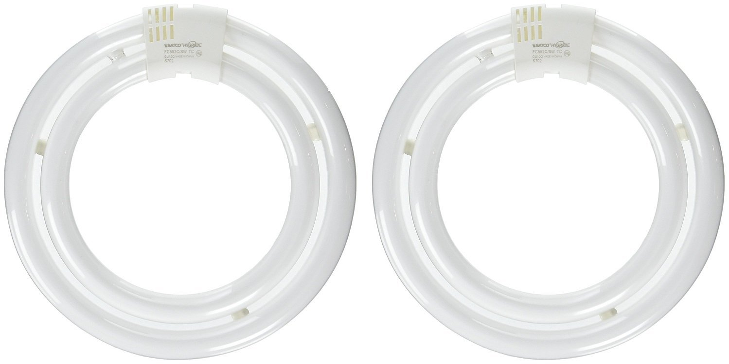 Satco S6596, FC552C/SW/TC - 55W 3000K T6, Compact Fluorescent Bulb (2 Pack) by Satco (Image #1)