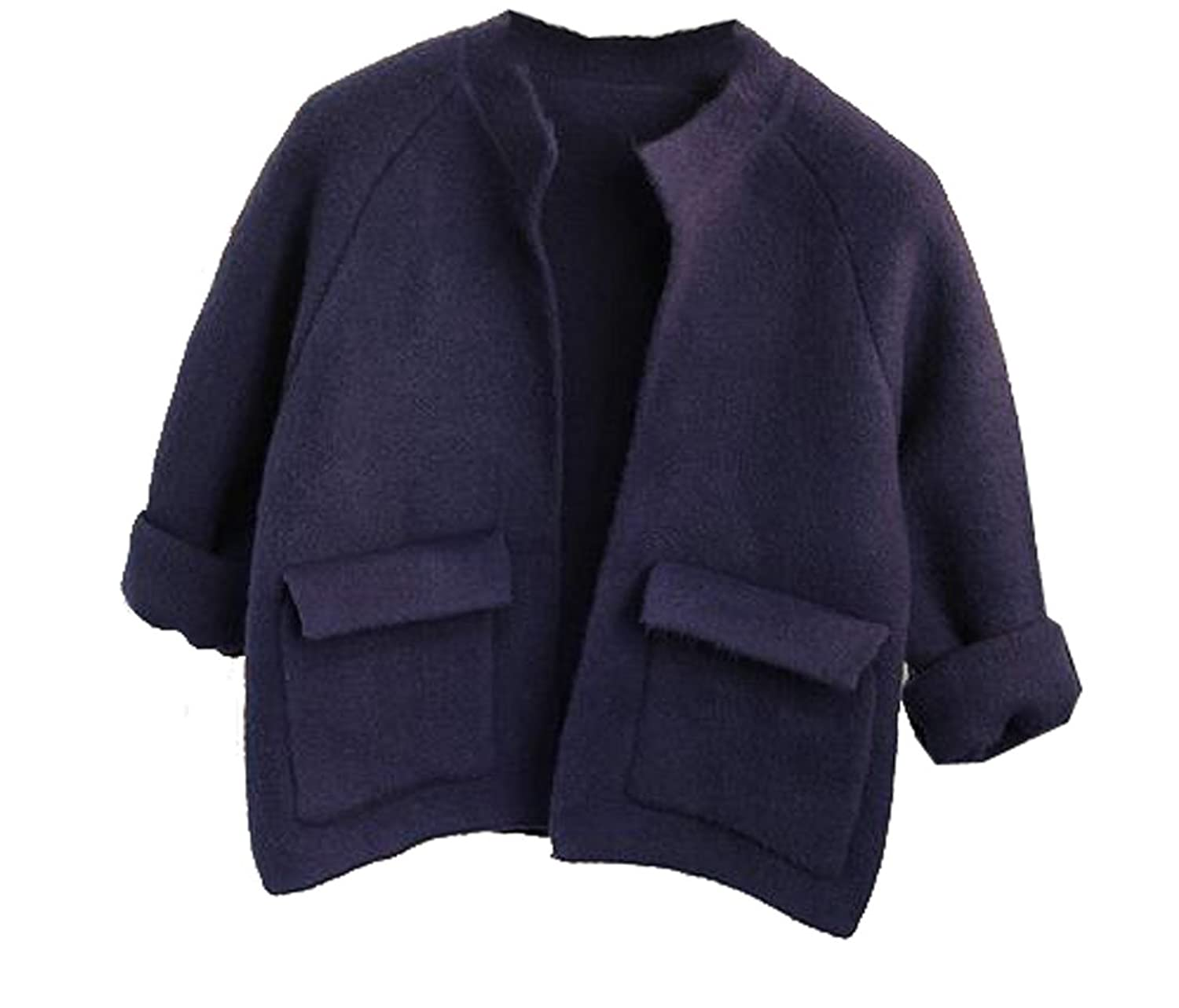Honey GD Women's Knitting With Pockets Short Outerwear Cardigan