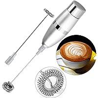 Mousseur à lait électrique, Automatiques Mousseur de lait en Acier Inoxydable,et Mousse Froide pour Café, Café au lait, Café Crème, Expressos, Lattés, Cappucinos et Machiattos