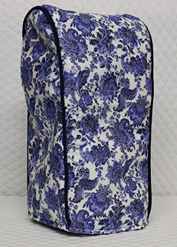 Blender Appliance Cover (Ninja blender cover - Quilted Double Faced Cotton, Blue Floral)