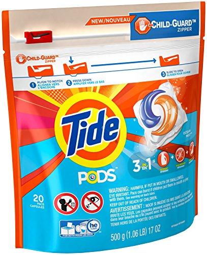 Tide PODS Laundry Detergent Ocean Mist Scent, 20 - Scent Ocean Mist