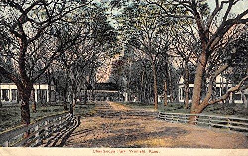 Winfield Kansas Chautauqua Park General Scene Antique Postcard V20563