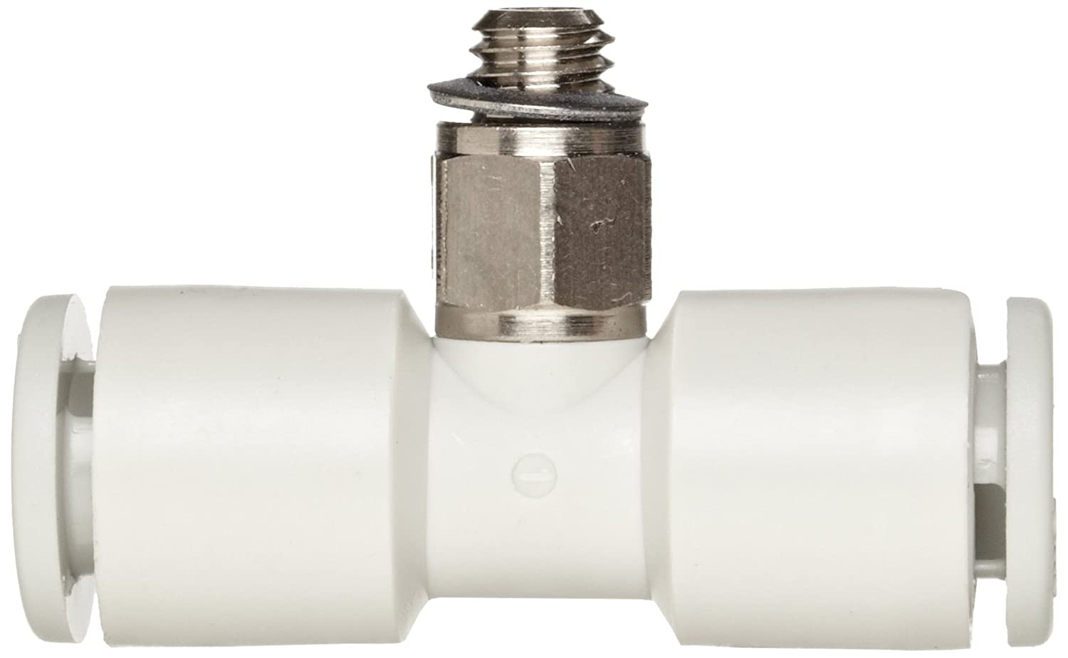 SMC KQ2T23-M5N PBT /& Nickel Plated Brass Push-to-Connect Tube Fitting 3.2 mm Tube OD x M5X0.8 Male x 3.2 mm Tube OD Branch Tee
