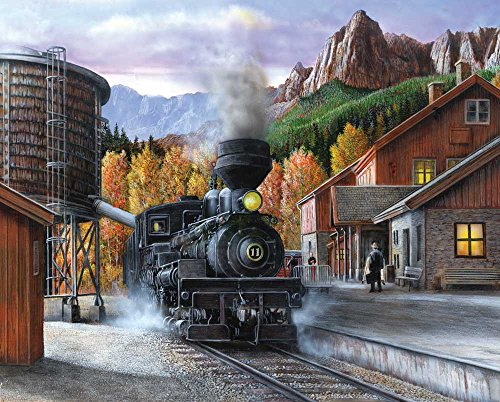Springbok Puzzles - Mountain Express - 1000 Piece Jigsaw Puzzle - Large 30 Inches by 24 Inches Puzzle - Made in USA - Unique Cut Interlocking Pieces