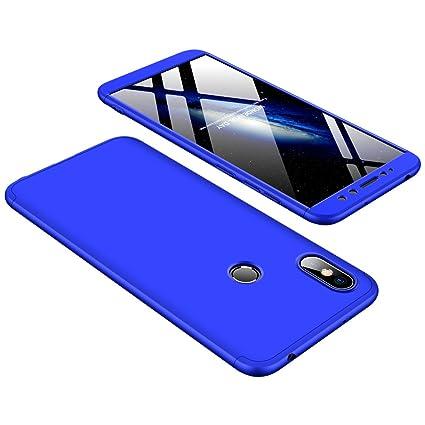 JMGoodstore Funda Compatible Xiaomi Redmi S2,Carcasa Redmi S2,360 Grados Integral Ambas Caras+Cristal Templado,3 in 1 Slim Dactilares Protectora Skin ...