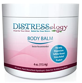 Distressology All Natural Magnesium Based Stress Relief Body Balm (4 ounce)