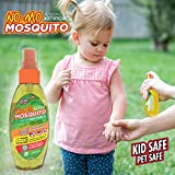 No-Mo Mosquito Repellent – Keep Your Family Safe From Harmful Bugs & Harsh Chemicals – Kid & Pet Safe – All Natural – NO DEET or PICARDIN – Repels Ticks – Fleas – No-See-Ums and More! Spray or Wipe