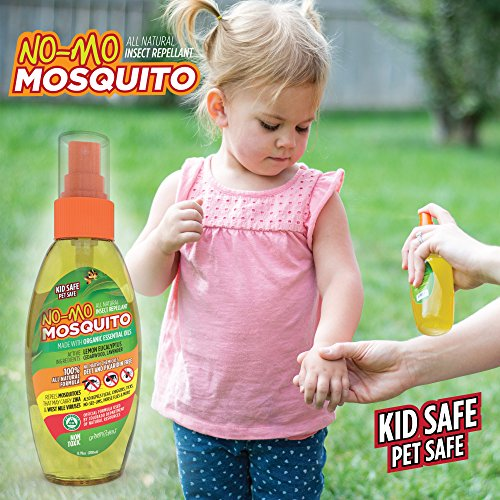 No-Mo Mosquito Repellent - Keep Your Family Safe From Harmful Bugs & Harsh Chemicals - Kid & Pet Safe - All Natural - NO DEET or PICARDIN - Repels Ticks - Fleas - No-See-Ums and More! Spray or Wipe (New Mag Coil)