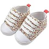 Voberry Baby Girls Floral Prewalker Soft Sole Canvas Sneaker