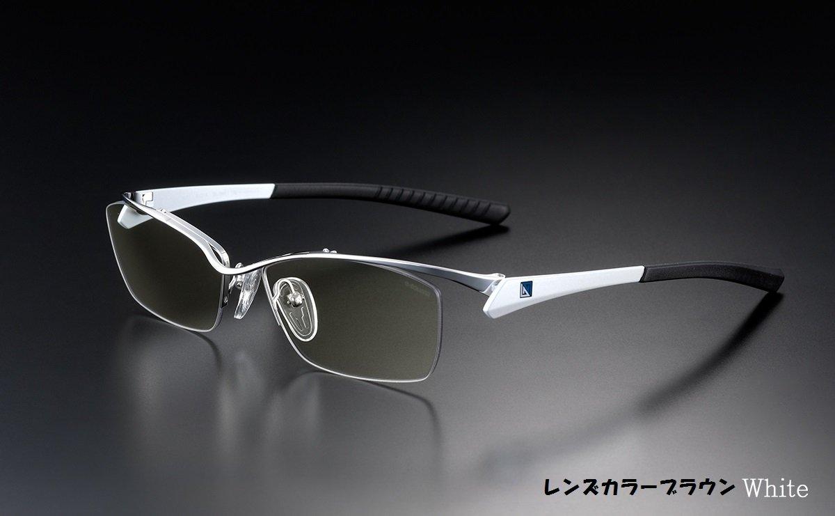 <国内正規代理店品> NIDEK G-SQUAREアイウェア Professional Model ナイロール 日本の医療メーカーがゲーマーの目を守る為に作りあげた国内製造ゲーミンググラス (ブラウン×ホワイト)  ブラウン×ホワイト B075H6GT28