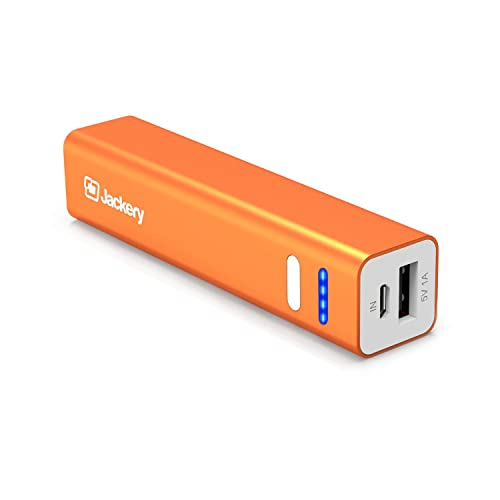 Jackery Mini 3200mAh Portable Battery Charger Power Bank for iPhone X, iPhone 8/ 8 Plus, iPhone 7/ 7 Plus, iPhone 6s/ 6s Plus, Samsung Galaxy S7 and Other Smart Devices (Orange)