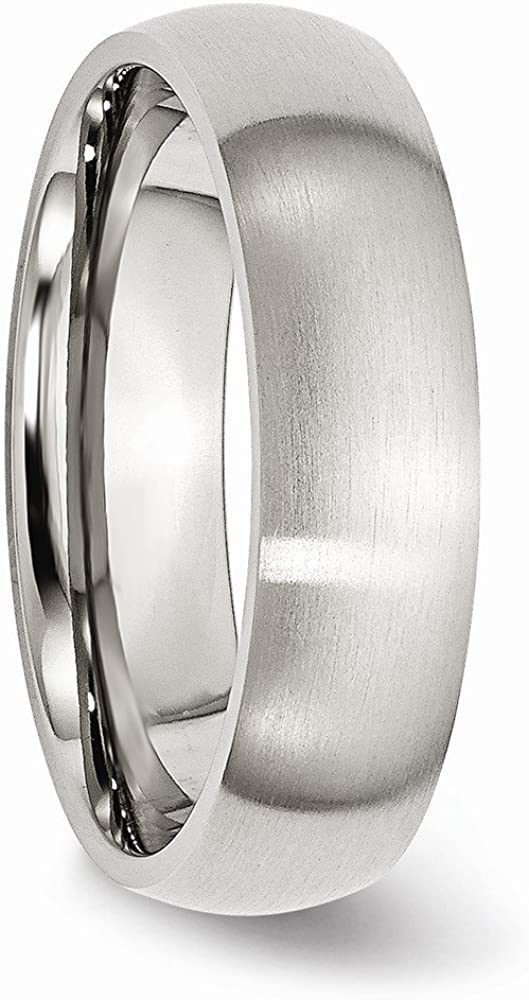 Jewelry Stores Network Mens Stainless Steel 6mm Brushed Wedding Band Ring
