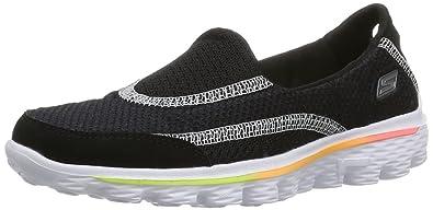e20a13d61aa5 Skechers Girls  Go Walk 2 Low-Top Sneakers Black Size  11 Child UK ...
