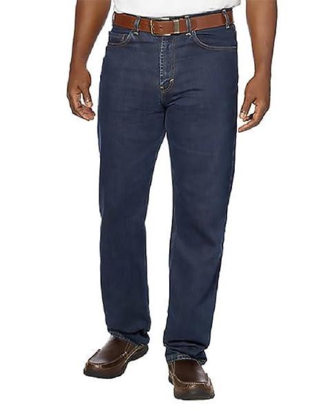 Amazon.com  Kirkland Signature Mens 5-Pocket Blue Jean Relaxed Fit ... 64754a7872