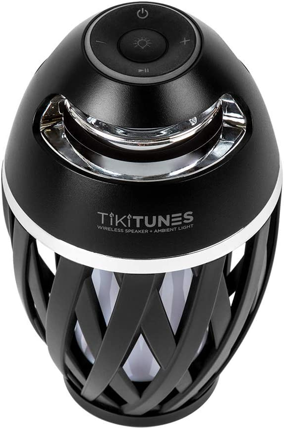 "Bundle Limitless Innovations with Adjustable 40/"" Pole and Ground Stake Black TikiTunes Portable Bluetooth Wireless Speaker"