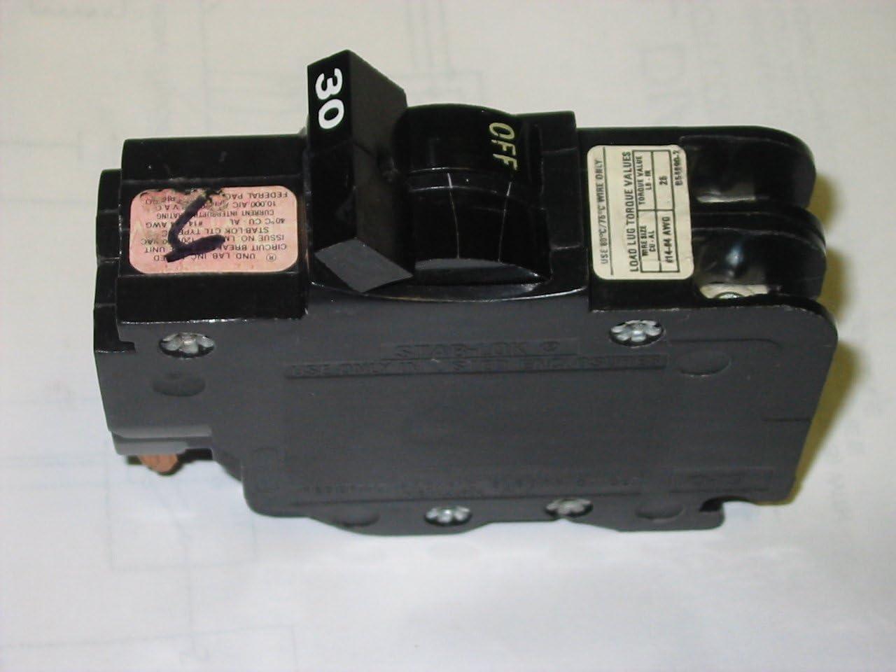 stab-lok CU-AL 1 pole 30 amp circuit breaker
