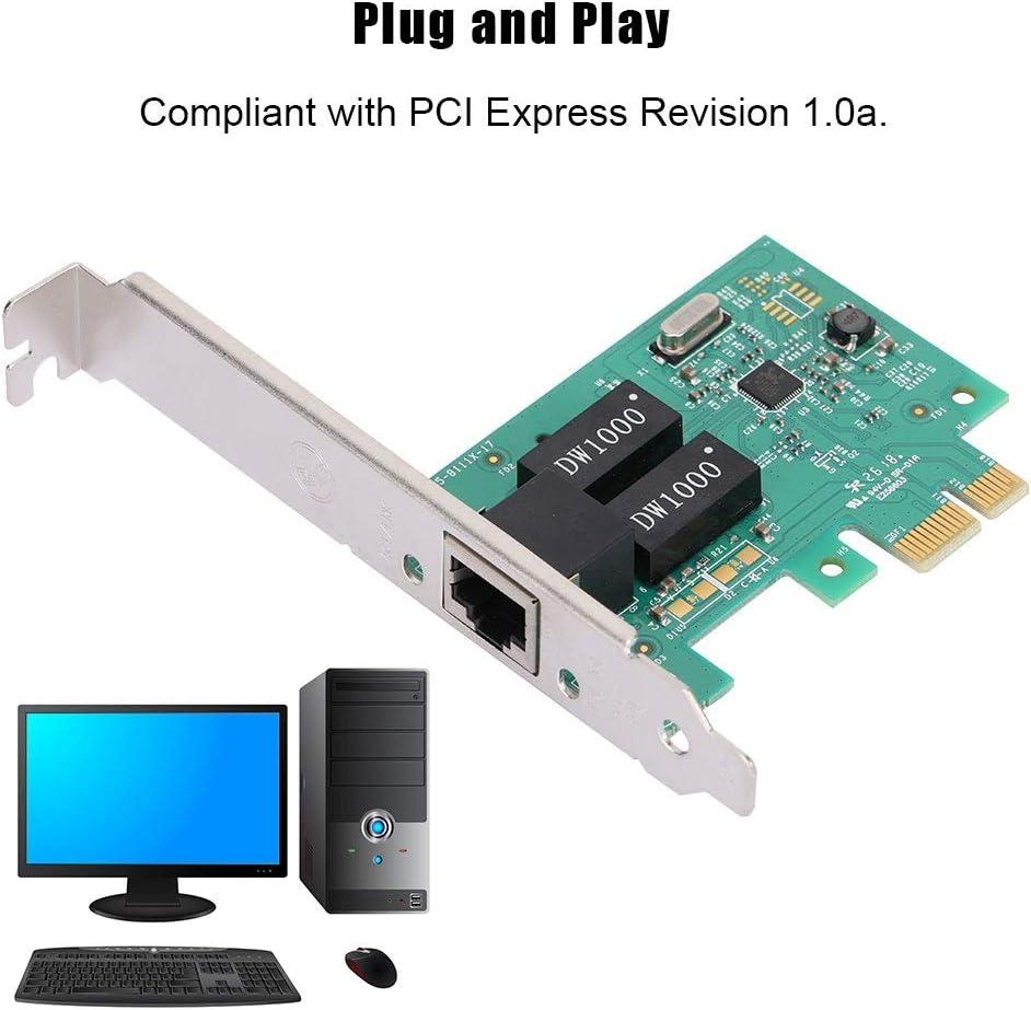 Gigabit LAN Card Adapter 10//100 Elprico Gigabit Network Adapter Green PCI-E Gigabit Ethernet Network Card Adapter 1000Mbps