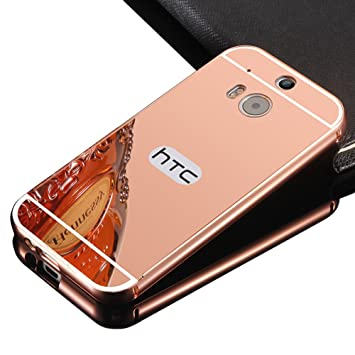 htc one m8 gold case. HTC One M8 Case,Vandot Luxury Aluminum Metal Bumper Frame+Mirror Reflective Effect Acrylic Htc Gold Case