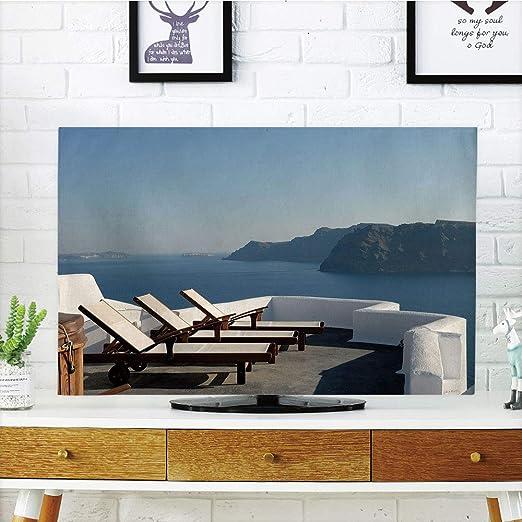 iprint - Funda para televisor LCD, decoración de Viaje, Cama Solar en terraza, diseño de impresión 3D Compatible con televisores de 32 Pulgadas: Amazon.es: Hogar